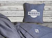 """Автомобильный плед-подушка с вышивкой логотипа """"Hissan"""", фото 2"""