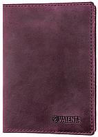 Кожаная обложка для паспорта Valenta Бордовая (ОУ-166 бордо) КОД: ОУ-166 бордо