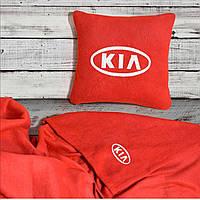 """Автомобильный плед-подушка с вышивкой логотипа """"KIA"""", фото 2"""