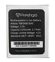Аккумулятор PSP3458 для Prestigio 3458 DUO Wize O3 1550 mAh (03996-1) КОД: 03996-1