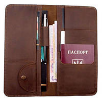 Кожаный органайзер для документов Коричневый Нубук (ХР59610) КОД: ХР59610