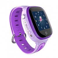 Детские умные водонепроницаемые смарт-часы с GPS и камерой DF31G шагомер будильник Purple (SWDF31GPU) КОД: SWDF31GPU