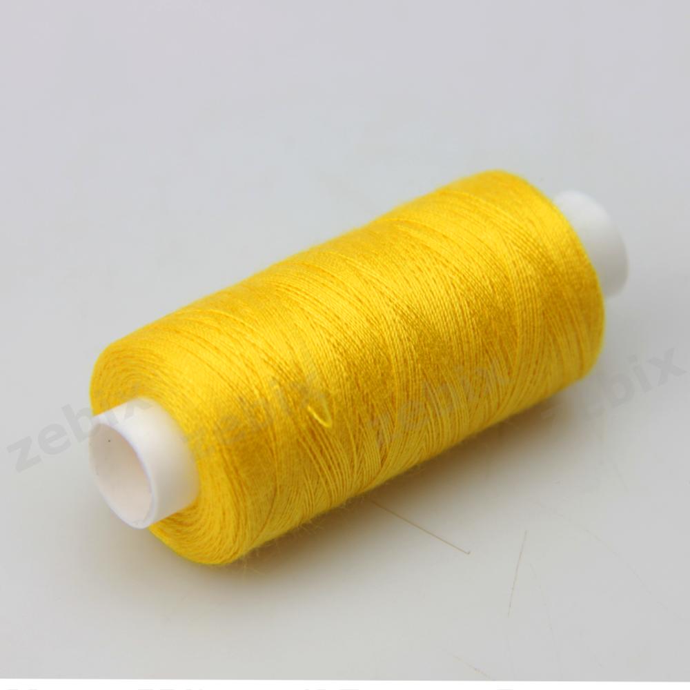 Нитки швейные 40/2 Kiwi 400 ярдов тон 385 желтый