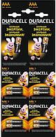 Батарейки щелочные алкалиновые Duracell AАA (LR03 мизинчик)
