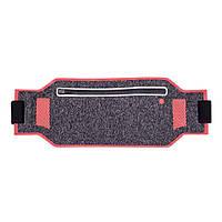 Сумка на пояс для бігу і тренувань у спортзалі Floveme червона меланж, фото 1