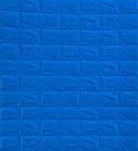 Самоклеющиеся обои Декоративная 3D панель ПВХ 1 шт, синий кирпич, фото 2