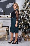 Платье нарядное с гипюром, строгое и нарядное одновременно р.48-50,52-54,код 4016Ж, фото 2