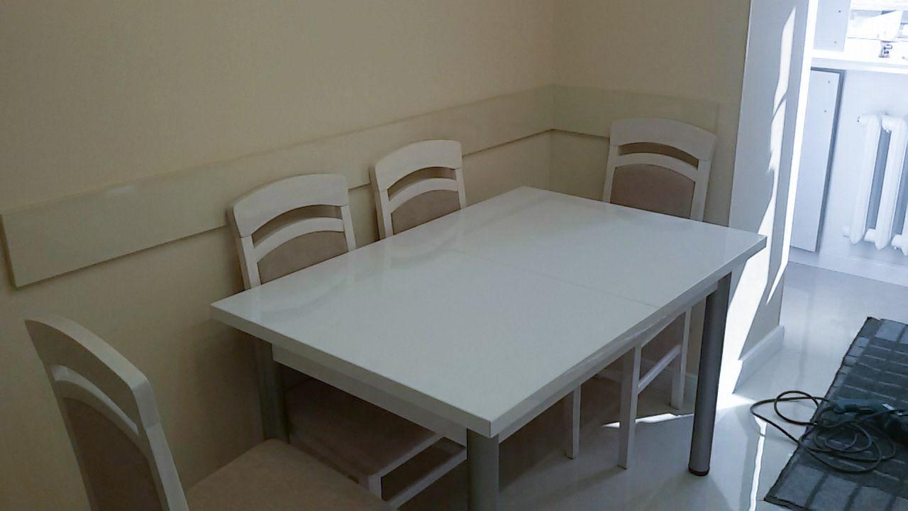 Кухонный стол обеденный раздвижной пластик 120(160)×80×75см