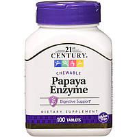 21st Century Papaya Enzyme 100 tabs
