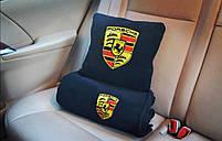 """Автомобильный плед-подушка с вышивкой логотипа """"PORSCHE"""", фото 2"""