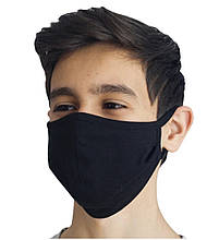 Маска многоразовая для лица защитная трикотажная черная