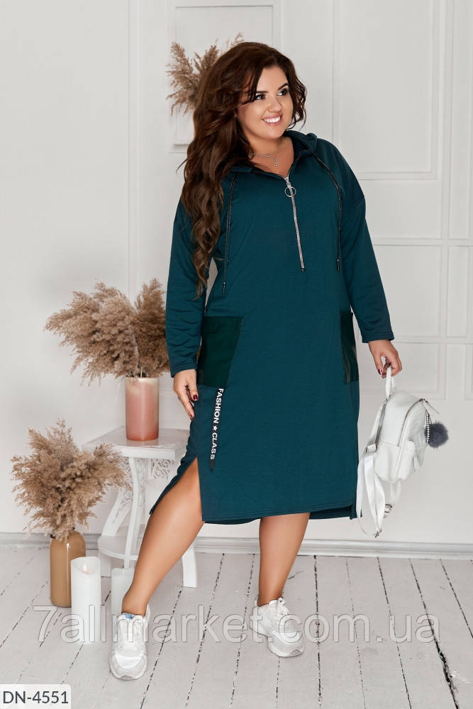 """Сукня жіноча модна мод. 162 (50-52, 54-56, 58-60, 62-64) """"N. N. C. FASHION"""" недорого від прямого постачальника"""