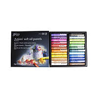 Пастель масляная мягкая профессиональная, 24 цвета, MOPV-24, MUNGYO