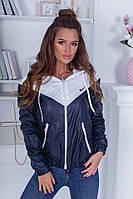 Куртка ветровка женская Плащевка на флисе Размер 42 44 46 48 Разные цвета