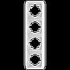 Рамка 4-я вертикальная белая ViKO Carmen