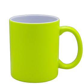 Чашка для сублимации неон 330 мл (Жёлтый)