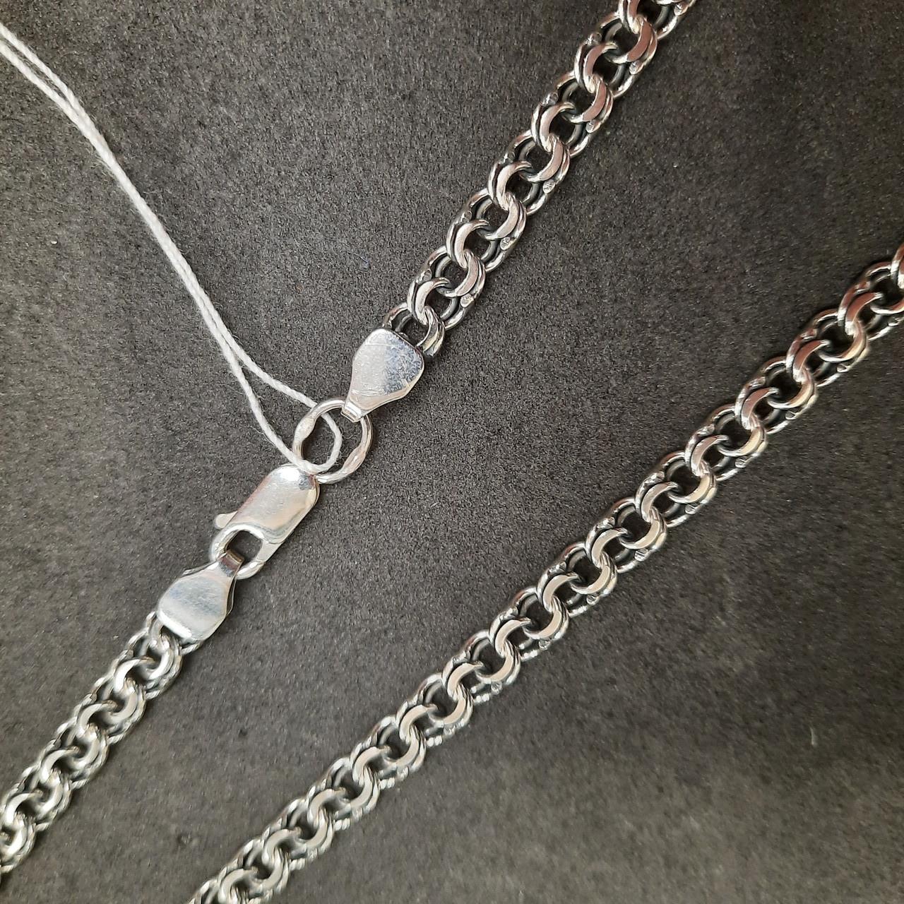 Срібна ланцюжок на шию 925 проби чоловіча, жіноча (срібний ланцюг чоловічий, жіночий). 45 див. Плетіння