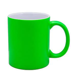 Чашка для сублимации неон 330 мл (Салатовый)