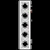 Рамка 5-я вертикальна біла ViKO Carmen