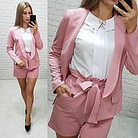 Жіночі шорти з поясом, арт. 191, колір рожевий / рожевого кольору