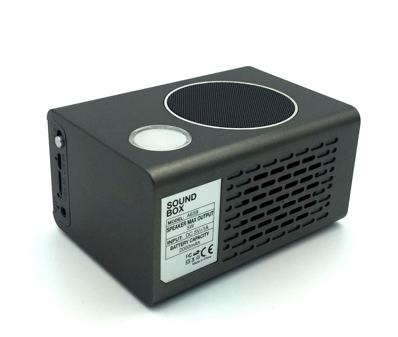 Беспроводная колонка/часы/будильник/FM радио/ночник ASPOR A659 (5W) Sound Box Black