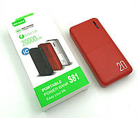 Power bank WESDAR S81 (20000mAh/2A/2USB) Red, фото 2