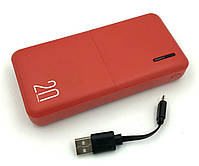 Power bank WESDAR S81 (20000mAh/2A/2USB) Red, фото 3