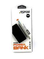 Внешний аккумулятор / Power Bank ASPOR A325 (5000mAh/2.4A/2USB) Black