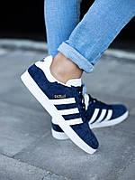 Мужские кроссовки Adidas Gazelle Blue