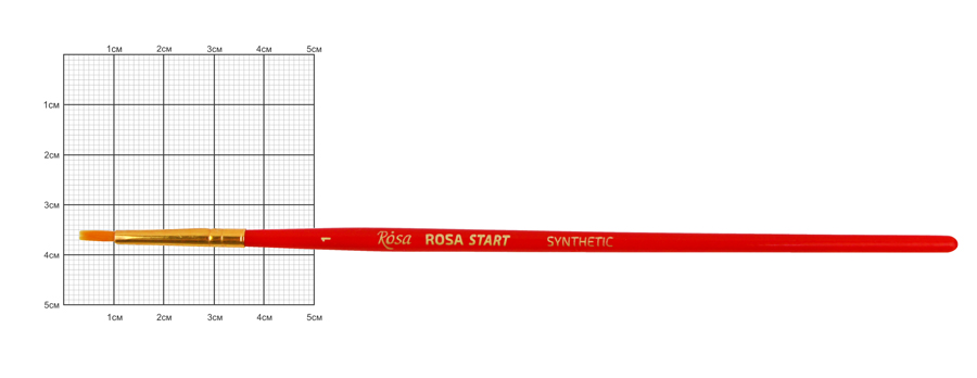 Синтетика плоская, № 1, к.р. кисть ROSA START