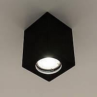 Накладной точечный светильник GYPSUM LINE Lester S1802 BK (черный), фото 1