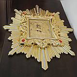 Икона спускная Пресвятой Богородицы (дерево, позолота), фото 2