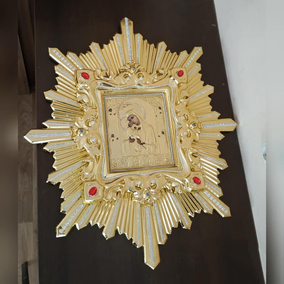 Икона спускная Пресвятой Богородицы (дерево, позолота)
