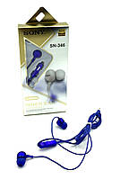 Наушники Sony SN-346 Blue + микрофон, фото 1