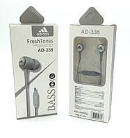 Наушники с микрофоном ADIDAS AD-338 Gray, фото 1