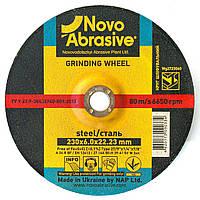 Обдирочный (зачистной) диск круг для болгарки по металлу 230х6х22,23 т27 Novoabrasive