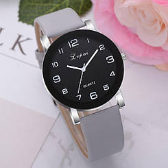 СКИДКА!!! Женские часы, черный циферблат, серые