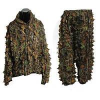 Маскировочный костюм ( Маскхалат PUBG, кикимора, камуфляж листва ) Seuno хаки