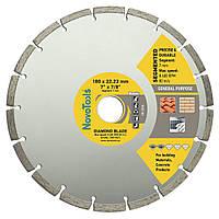 Диск алмазный по бетону, камню для болгарки 180х7х22,23 NovoTools Basic