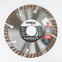 Диск алмазный по бетону 115х7х22,23 Wellcut Standard