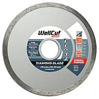 Диск відрізний алмазний для болгарки по плитці 115х5х22,23 Wellcut Promo
