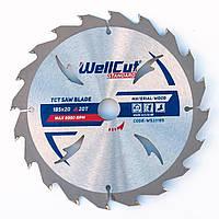 Диск пильный по дереву для циркулярной и торцовочной пилы 185х20 WellCut Standard 20Т