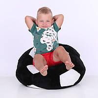 Детское Кресло Zolushka мяч  маленькое 60см черно-белое