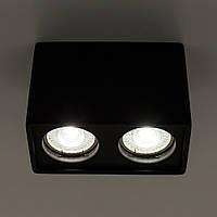 Накладной точечный светильник GYPSUM LINE S1804-2 BK (черный), фото 1