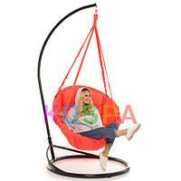 Подвесное Кресло качеля-гамак с подставкой Kospa Кораловый (120 кг)