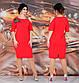 """Жіноче ошатне плаття у великих розмірах 294 """"Плече Пайетка Квітка"""" в кольорах, фото 4"""