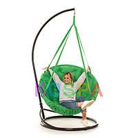 Подвесное Кресло качеля-гамак с подставкой Kospa Травяной (120 кг)