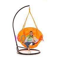 Подвесное Кресло качеля-гамак с подставкой Kospa Оранжевый (200 кг)