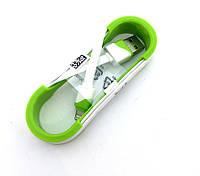 Дата кабель FLAT ROLL iPhone 5 White/Green (тех. упаковка)