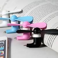Мини вентилятор для телефона ручной вентилятор Micro USB (51170)